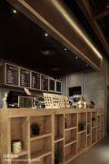 咖啡厅典雅收银台公装设计