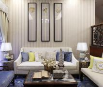 现代客厅沙发背景墙液体墙纸装修设计欣赏