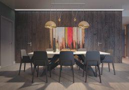25个优雅简单的现代餐厅装修设计