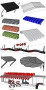 多种雨棚设计图图纸欣赏