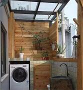 阳台洗衣房装修效果图 美观兼实用的设计