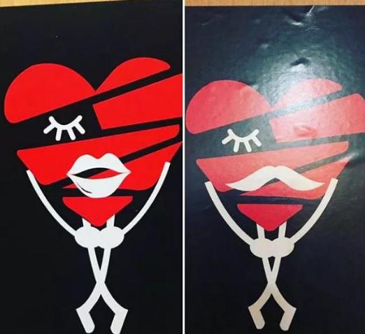 厕所创意男女标志设计