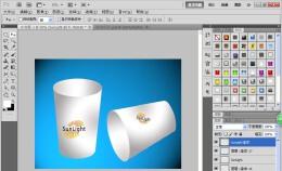 PS怎么设计一次性纸杯子