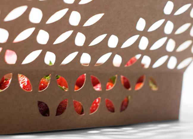草莓包装盒创意设计